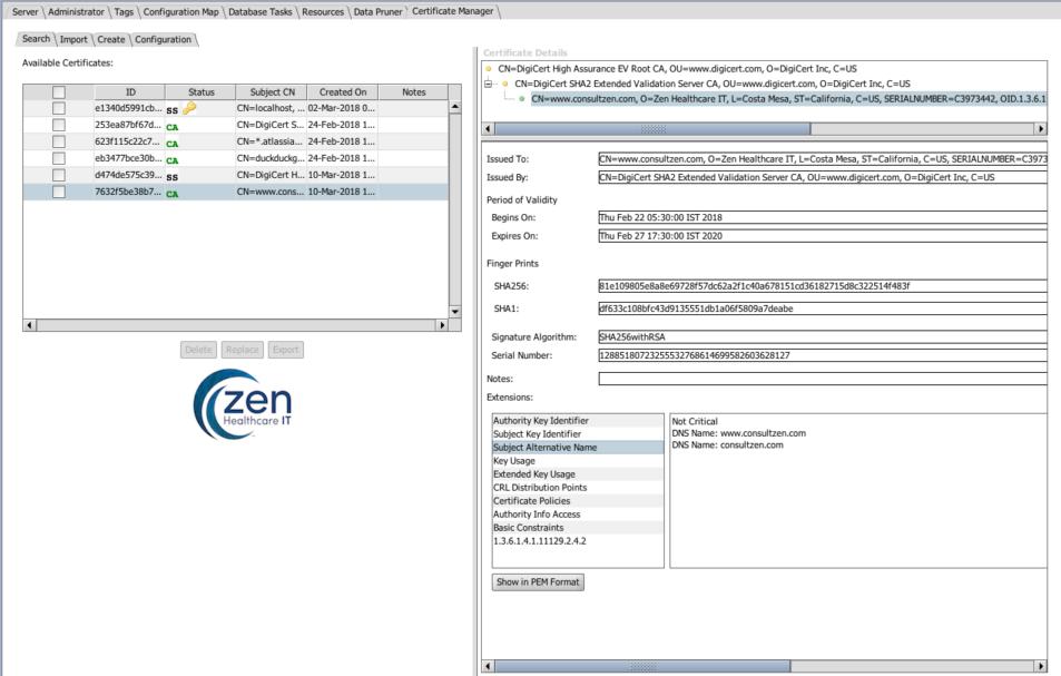 Zen Ssl Extension Zen Healthcare It